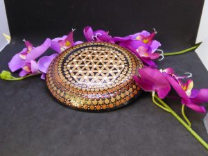 dot painting mandala steen onderzetter