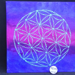 dot painting mandala flower of life