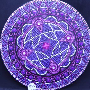 dot painting mandala strass