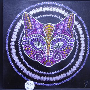 dot painting mandala poes