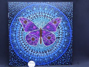 dot painting mandala vlinder