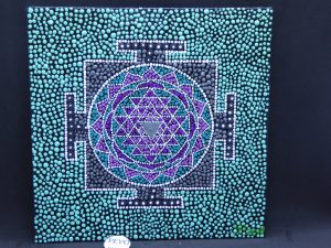 dot painting mandala Jantra