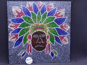 dot painting mandala indiaan