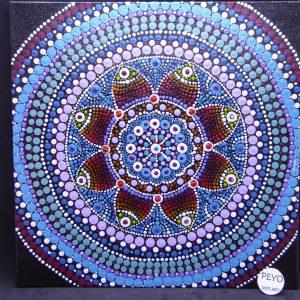 dot painting mandala