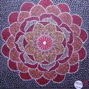 dot painting mandala flower