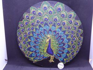 dot painting mandala peacock