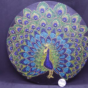 dot painting mandala peacock