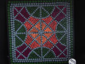 dot painting mandala geometrisch