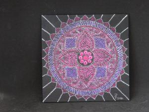 dot painting mandala geometrie