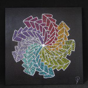 dot painting geometrisch