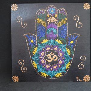dot painting hamsa