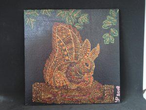 dot painting eekhoorn