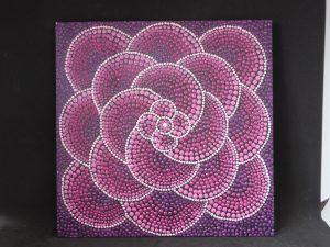 dot painting flower