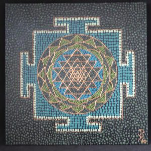dot painting geometrisch Jantra