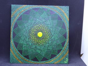dot painting mandala peyo