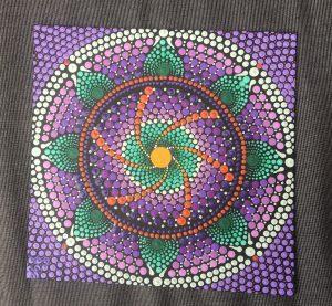 dot painting mandala peyo