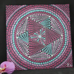 dot painting canvas geometrisch peyo